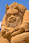 A beast, Sand sculpture festival on the Haifa beach, July 2006