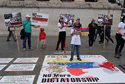 July 29, 2017 - London, United Kingdom - Members of London's venezuelan community hold a protest in trafalger square against Venezuela's president, Nicolás Maduro in London, on July 29, 2017. (Credit Image: © Jay Shaw Baker/NurPhoto via ZUMA Press)