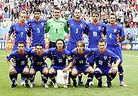 GEPA-1206085901A - KLAGENFURT,AUSTRIA,12.JUN.08 - FUSSBALL - UEFA Europameisterschaft, EURO 2008, Kroatien vs Deutschland, CRO vs GER. Bild zeigt h.v.l Ivan Rakitic, Vedran Corluka, Stipe Pletikosa, Josip Simunic, Niko Kranjcar, Robert Kovac, v.v.l Darijo Srna, Danijel Pranjic, Niko Kovac, Luka Modric und Ivica Olic (CRO).<br />Foto: GEPA pictures/ Oskar Hoeher