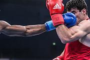 Boxen: AIBA Box-WM, Day 6, Halbfinale, Hamburg, 20.08.2017<br /> 64Kg: Hovhannes Bachkov (ARM, red) - Andy Cruz Gomez (CUB, blue)<br /> © Torsten Helmke