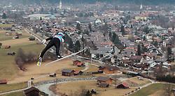 31.12.2015, Olympiaschanze, Garmisch Partenkirchen, GER, FIS Weltcup Ski Sprung, Vierschanzentournee, Training, im Bild Michael Hayboeck (AUT) // Michael Hayboeck of Austria during his Practice Jump for the Four Hills Tournament of FIS Ski Jumping World Cup at the Olympiaschanze, Garmisch Partenkirchen, Germany on 2015/12/31. EXPA Pictures © 2015, PhotoCredit: EXPA/ JFK
