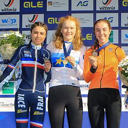 10-11-2019: Wielrennen: Europees Kampioenschap Veldrijden: Silvelle<br />Puck Pieterse, Shirin van Anrooij