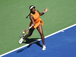 September 4, 2018 - Flushing Meadow, NY, U.S. - FLUSHING MEADOW, NY - SEPTEMBER 04: Sloane Stephens (USA) in action during the quarter-final of the Women's Singles Championships of the US Open on September 4, 2018, at the Billie Jean King Tennis Center in Flushing Meadow, NY. (Photo by Cynthia Lum/Icon Sportswire) (Credit Image: © Cynthia Lum/Icon SMI via ZUMA Press)