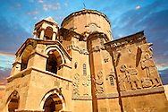 10th century Armenian Orthodox Cathedral of the Holy Cross on Akdamar Island, Lake Van Turkey 57 .<br /> <br /> If you prefer to buy from our ALAMY PHOTO LIBRARY  Collection visit : https://www.alamy.com/portfolio/paul-williams-funkystock/lakevanturkey.html<br /> <br /> Visit our TURKEY PHOTO COLLECTIONS for more photos to download or buy as wall art prints https://funkystock.photoshelter.com/gallery-collection/3f-Pictures-of-Turkey-Turkey-Photos-Images-Fotos/C0000U.hJWkZxAbg