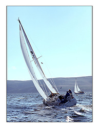 The Clyde Cruising Club's 1977 Tomatin Trophy the first Scottish Series held at Tarbert Loch Fyne.  An overnight race from Gourock to Campbeltown then on to Olympic Triangles in Loch Fyne. ..702C,  Nicomaran