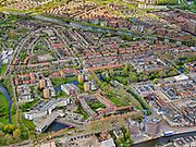 Nederland, Noord-Holland, Purmerend, 07-05-2021; Purmerend centrum, Stadhuis (voormalig Stadszikenhuis), Bloemenbuurt.<br /> luchtfoto (toeslag op standaard tarieven);<br /> aerial photo (additional fee required)<br /> copyright © 2021 foto/photo Siebe Swart.