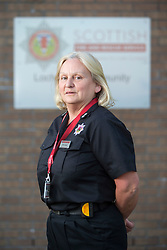 Watch Manager Lesley Jones. News feature on the nearly all-female firefighting crew based at the Fire Shed, Lochaline, on the Morvern Peninsula.