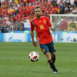 July 1, 2018 - Moscow, Russia - July 01, 2018, Russia, Moscow, FIFA World Cup 2018, the playoff round. Football match Spain - Russia at the stadium Luzhniki. Player of the national team Thiago. (Credit Image: © Russian Look via ZUMA Wire)