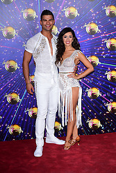 Aljaz Skorjanec (left) and Janette Manrara arriving at the red carpet launch of Strictly Come Dancing 2019, held at BBC TV Centre in London, UK.
