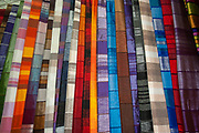 Moroccan Fabric at the Market in the Casbah of the Old City of Marrakesh, Morocco