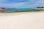 Ocean Beach on Long Bay  on Green Turtle Cay, Bahamas.