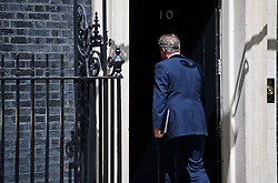 © Licensed to London News Pictures. 21/06/2016. London, UK. British prime minister DAVID CAMERON returns to 10 Downing Street after delivering a speech on the upcoming EU referendum.  The UK is due to go to the ballot box on June 23rd to decide on it's membership of the EU. Photo credit: Ben Cawthra/LNP