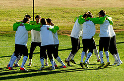 Milivoje Novakovic and other players of Slovenia during a training session at  Hyde Park High School Stadium on June 16, 2010 in Johannesburg, South Africa.  (Photo by Vid Ponikvar / Sportida)