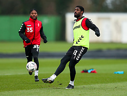 Hakeeb Adelakun of Bristol City during a training session ahead of the FA Cup game with Portsmouth - Rogan/JMP - 07/01/2021 - Failand - Bristol, England.