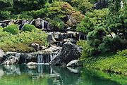 waterfalls, japanese garden, botanical garden, montreal, quebec, canada