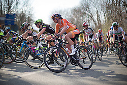 Chantal Blaak (Boels-Dolmans Cycling Team) rides in the main pack in the first, short lap of Trofeo Alfredo Binda - a 123.3km road race from Gavirate to Cittiglio on March 20, 2016 in Varese, Italy.