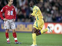Fotball<br /> Foto: Dppi/Digitalsport<br /> NORWAY ONLY<br /> <br /> FOOTBALL - LEAGUE CUP 2005/2006 - 1/16 FINAL - FC NANTES v LYON - 25/10/2005 - JOY MAMADOU DIALLO (NAN) AFTER HIS GOAL