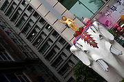 Tag der Feierlichkeiten von Buddhas Geburtstag (2. Mai 2009) im Zentrum der koreanischen Metropole Seoul.  <br /> <br /> Day of the celebration of Buddhas birthday (2nd of May 2009) in the center of the Korean metropolis Seoul.