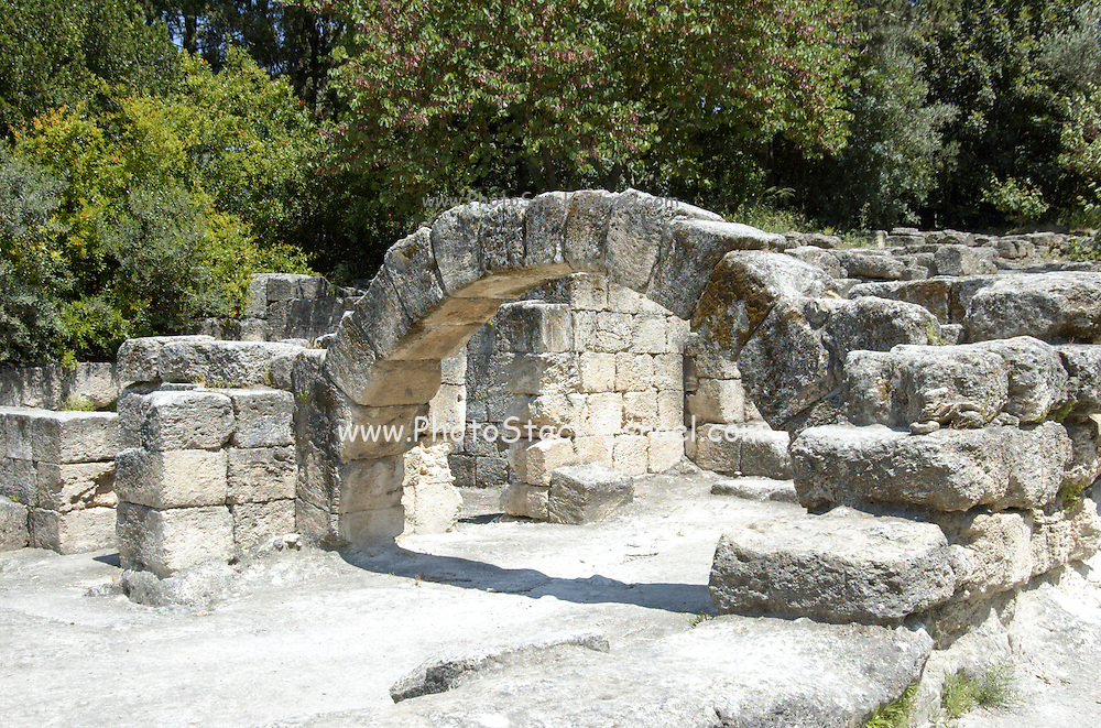 The arch of the Synagogue at Beit sharim, Israel. The Jewish town of Beit She'arim flourished during the 2-4 centuries CE (the Roman period).