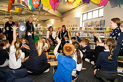 Pictured: Ms Hyslop meets the young readers<br /> Culture Secretary Fiona Hyslop MSP visited Wester Hailes Library in Edinburgh today to meet primary-school pupils and Edinburgh City Council officials  to announce libraries support package<br /> <br /> Ger Harley | EEm 7 September 2016