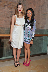 Left to right, MISCHA BARTON and DIONNE BROMFIELD at the Women for Women International UK Gala held at the Guildhall, City of London on 3rd May 2012.