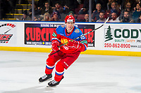 KELOWNA, BC - DECEMBER 18: Ivan Chekhovich #19 of Team Russia skates against the Team Sweden at Prospera Place on December 18, 2018 in Kelowna, Canada. (Photo by Marissa Baecker/Getty Images)***Local Caption***