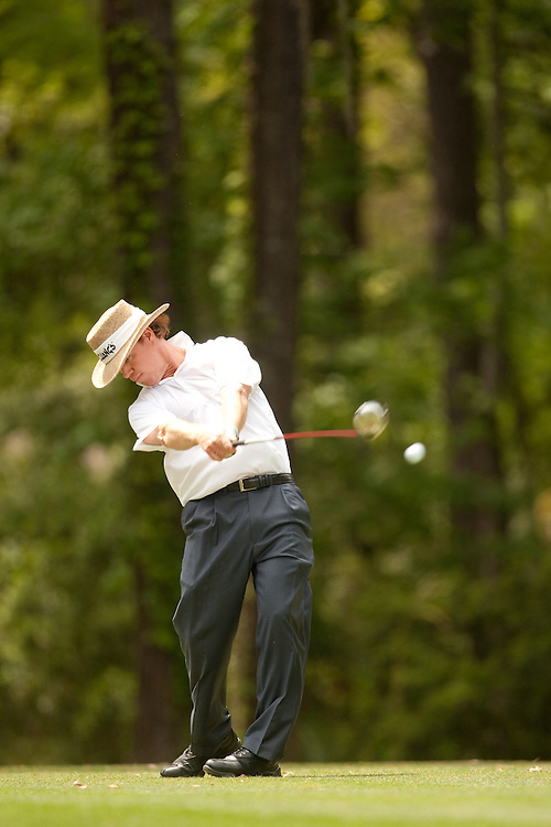 HILTON HEAD, SC - APRIL 19:  Briny Baird hits his tee shot during the fourth round of the 2009 Verizon Heritage in Hilton Head, South Carolina at Harbour Town Golf Links on Sunday, April 19, 2009. (Photograph by Darren Carroll) *** Local Caption *** Briny Baird