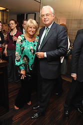 MARTYN LEWIS and PATSY BAKER at a Valentine's Party in aid of Chickenshed held at De Beers, 50 Old Bond Street, London W1 on 6th Fbruary 2008.<br /><br />NON EXCLUSIVE - WORLD RIGHTS