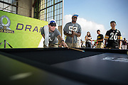 January 27 2016: Oakland Raiders David Carr and Khalil Mack play pool during the Pro Bowl Draft at Wheeler Army Base on Oahu, HI. (Photo by Aric Becker/Icon Sportswire)