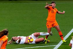 09-11-2018 NED: UEFA WC play-off final Netherlands - Switzerland, Utrecht<br /> European qualifying for the 2019 FIFA Women's World Cup - Lieke Martens #11 of Netherlands, Rahel Kiwic #14 of Switzerland