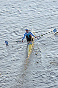 Chiswick, GREAT BRITAIN,   Crabtree BC. Guy POOLEY, 2012 Scullers Head of the River Race, raced over the 'Championship Course', Mortlake to Chiswick [Reverse], on the River Thames, Saturday  08/12/2012  [Mandatory Credit, Peter Spurrier / Intersport-images