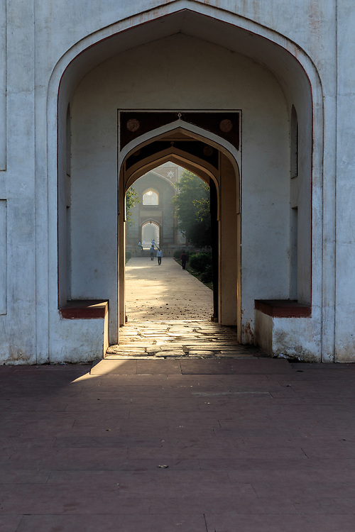 Bu Halima Gate at Humayun's Tomb in New Delhi, India. Who Bu Halima was is unknown but the garden and the remains what is believed to be her grave are here.