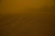 DUNHUANG, CHINA - APRIL 23: (CHINA OUT) <br /> <br /> Sand Storm Sweeps Dunhuang Visibility Insufficient 50 Meters<br /> <br /> A man walks in the sand storm on April 23, 2014, in Dunhuang, Gansu Province of China. Affected by the Siberian cold, eastwest China city Dunhuang was hit by sand storm on Wednesday afternoon and the temperature has dropped 6-10 degrees Celsius, the visibility insufficient 50 meters. <br /> ©Exclusivepix