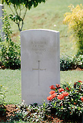 War grave for unknown soldier of the 1939-1945 War at Krangi War Cemetery for Commonwealth war dead in Singapore