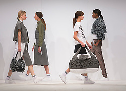 © Licensed to London News Pictures. 01/06/2015. London, UK. Collection by Ashley Patterson. Fashion show of Bath Spa University at Graduate Fashion Week 2015. Graduate Fashion Week takes place from 30 May to 2 June 2015 at the Old Truman Brewery, Brick Lane. Photo credit : Bettina Strenske/LNP