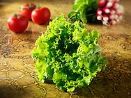 Fresh whole Batavia Lettuce