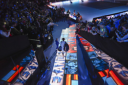 November 14, 2017 - London, England, United Kingdom - Alexander Zverev of Germany makes his way out onto court on day three of the Nitto ATP World Tour Finals at O2 Arena, London on November 14, 2017. (Credit Image: © Alberto Pezzali/NurPhoto via ZUMA Press)