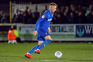 AFC Wimbledon striker Joe Pigott (39) dribbling during the EFL Sky Bet League 1 match between AFC Wimbledon and Peterborough United at the Cherry Red Records Stadium, Kingston, England on 12 March 2019.
