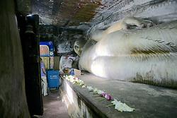 Reclining Buddha in Dambulla Cave Temple, Sri Lanka