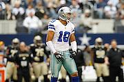 Dallas Cowboys wide receiver Miles Austin (19) celebrates after a catch against the New Orleans Saints at Cowboys Stadium in Arlington, Texas, on December 23, 2012.  (Stan Olszewski/The Dallas Morning News)