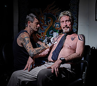John McAfee, anti-virus software developer and bitcoin prophet shot for Inked Magazine.