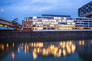 the building Dock 6-10 in the Rheinau harbour, Cologne, Germany.<br /> <br /> das Buerogebaeude Dock 6-10 im Rheinauhafen, Koeln, Deutschland.