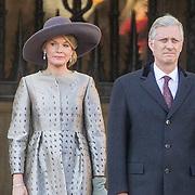 NLD/Amsterdam/20161128 - Belgisch Koningspaar start staatsbezoek aan Nederland, Koning Flilip en Koningin Mathilde
