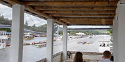 Henley-On-Thames, Berkshire, UK.,  Saturday, 14.08.21,  General View,from the Writer Box, 2021 Henley Royal Regatta,  River Thames, Thames Valley, Henley Reach, [Mandatory Credit © Karon PHILLIPS/Intersport Images],