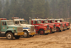 August 1, 2018 - California, U.S. - The Ferguson Fire now in its 20th day, started July 13 on the Sierra National Forest. The fire is now 62,883 acres with 39 percent containment and 3,558 personnel that are currently engaged on the fire which include 203 engines, 43 water tenders, 14 helicopters, 95 crews, 5 masticators and 62 dozers. There has been 2 fatalities and 9 injuries to date. 1 structure has been destroyed. (Credit Image: © Rubicon/Cal Fire via ZUMA Wire/ZUMAPRESS.com)