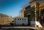 Prisoners are transported to prison by SERCO in high security vans. HMP Wandsworth, London, United Kingdom.