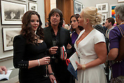 CECILLE LLEWELLEN-BOWEN; CECILLE LLEWELLEN-BOWEN; HERMIONE LLEWELLEN-BOWEN; JACKIE LLEWELLEN-BOWEN,  Royal Academy of Arts Summer Exhibition Preview Party 2011. Royal Academy. Piccadilly. London. 2 June <br /> <br />  , -DO NOT ARCHIVE-© Copyright Photograph by Dafydd Jones. 248 Clapham Rd. London SW9 0PZ. Tel 0207 820 0771. www.dafjones.com.