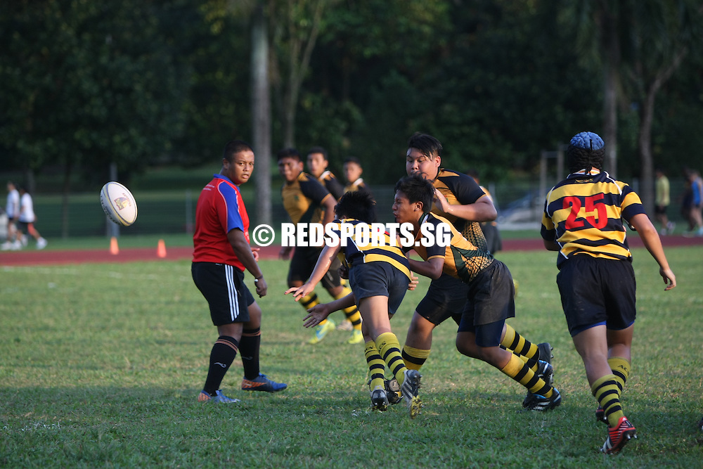 PESEB, Thursday, February 28, 2013 — Anglo Chinese School (Independent) dominated their opponents Pioneer Secondary, scoring eleven tries to win 75-0 in the National B Division Rugby Championship.<br /> <br /> Story: http://www.redsports.sg/2013/03/05/b-div-rugby-acsi-pioneer/