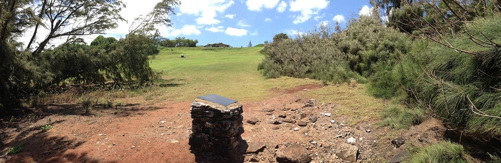 Honokahua Burial Site (Panorama), Kapalua, Maui, Hawaii, US