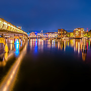 """Verftsbrua (Norwegian for """"Yard Bridge""""), also popularly called Blomsterbrua (""""Flower Bridge"""") is a bridge at the bay of Trondheim. The bridge, built in 2003, spans 125 metres. The name Verftsbrua comes from the nearby shipyard, Trondhjems mekaniske Værksted, while the name Blomsterbrua is due to the bridge being covered with many different kinds of coloured flowers.Please feel free to check my photos here or find me by: 